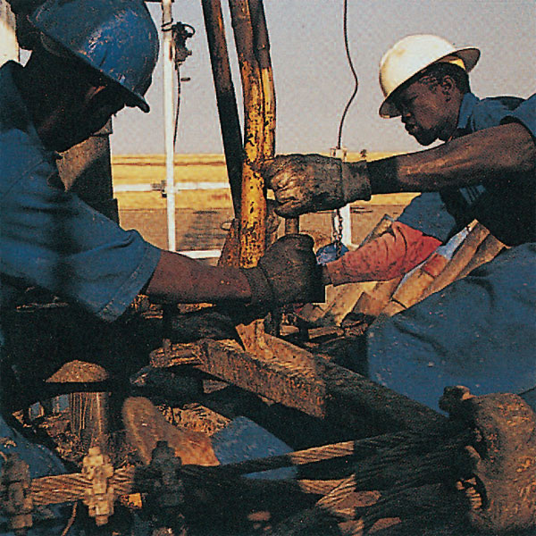 Oil well drilling in Heglig Field
