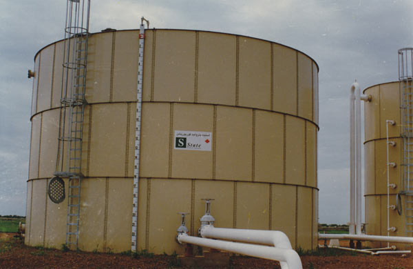 Oil storage tank in Heglig Field